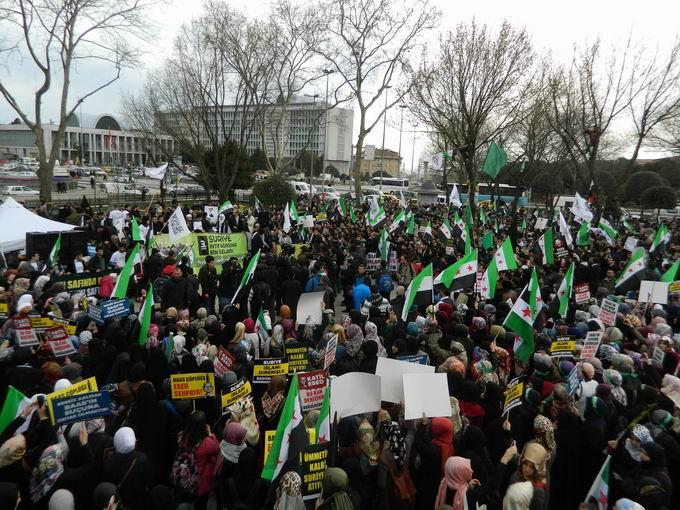 İstanbul'da Binler Suriye Cihadını Selamladı! 45