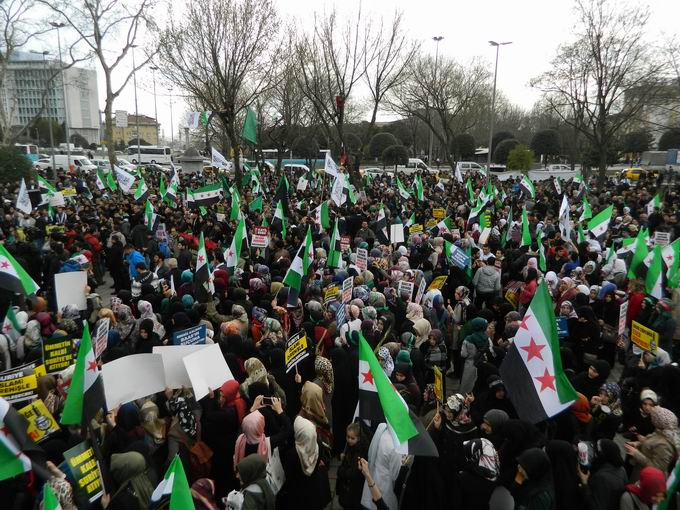 İstanbul'da Binler Suriye Cihadını Selamladı! 46