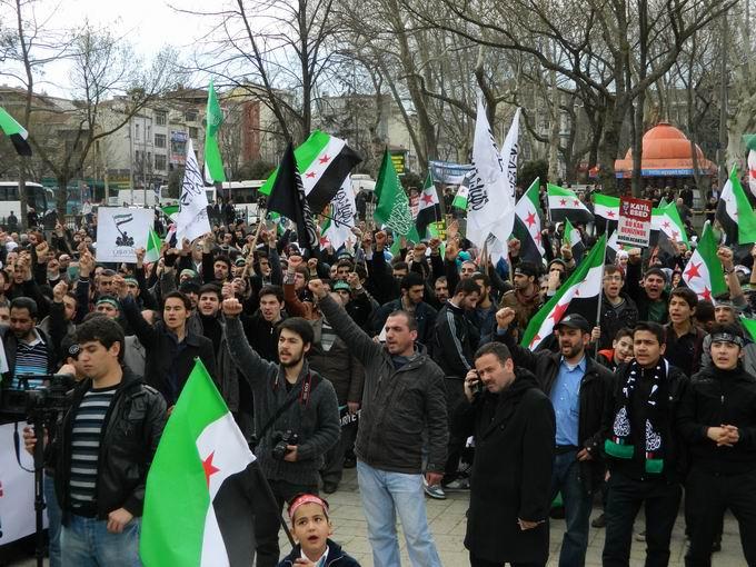 İstanbul'da Binler Suriye Cihadını Selamladı! 54