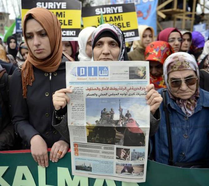 İstanbul'da Binler Suriye Cihadını Selamladı! 57