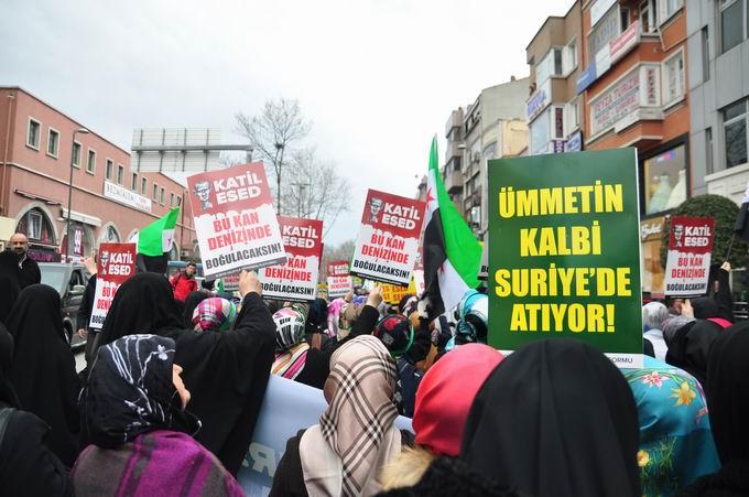 İstanbul'da Binler Suriye Cihadını Selamladı! 6