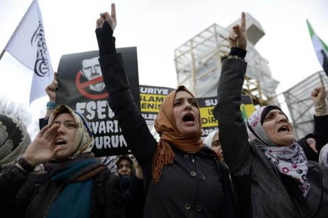 İstanbul'da Binler Suriye Cihadını Selamladı! 66
