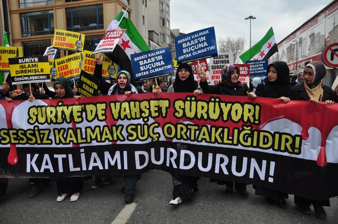 İstanbul'da Binler Suriye Cihadını Selamladı! 7