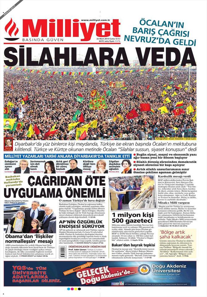22 Mart 2013 - Günün Gazete Manşetleri 10
