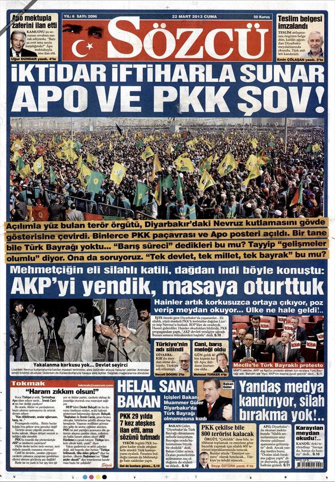 22 Mart 2013 - Günün Gazete Manşetleri 11