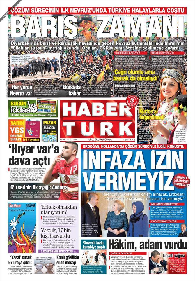 22 Mart 2013 - Günün Gazete Manşetleri 12
