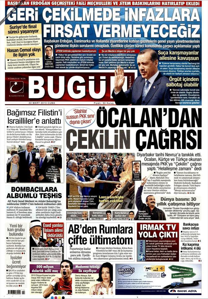 22 Mart 2013 - Günün Gazete Manşetleri 17