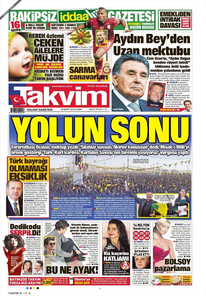 22 Mart 2013 - Günün Gazete Manşetleri 18