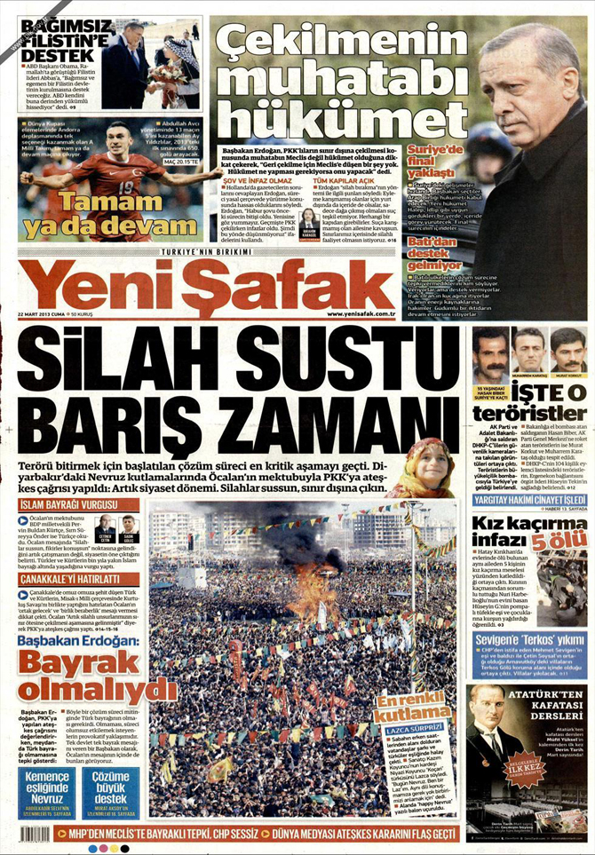 22 Mart 2013 - Günün Gazete Manşetleri 2