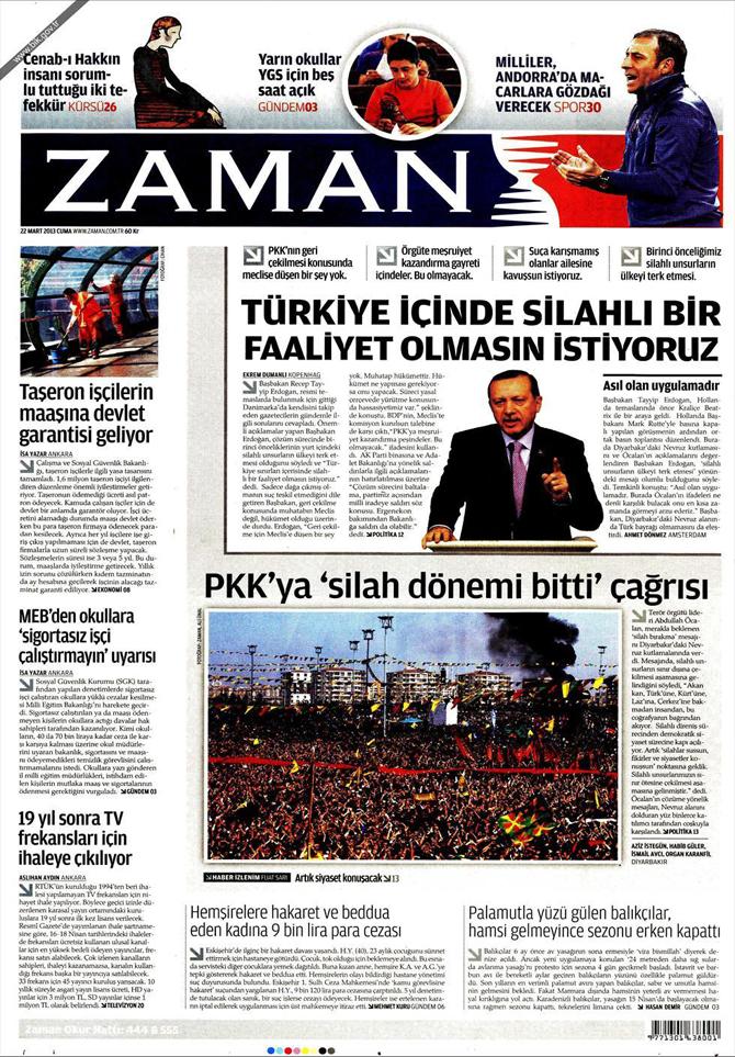 22 Mart 2013 - Günün Gazete Manşetleri 3