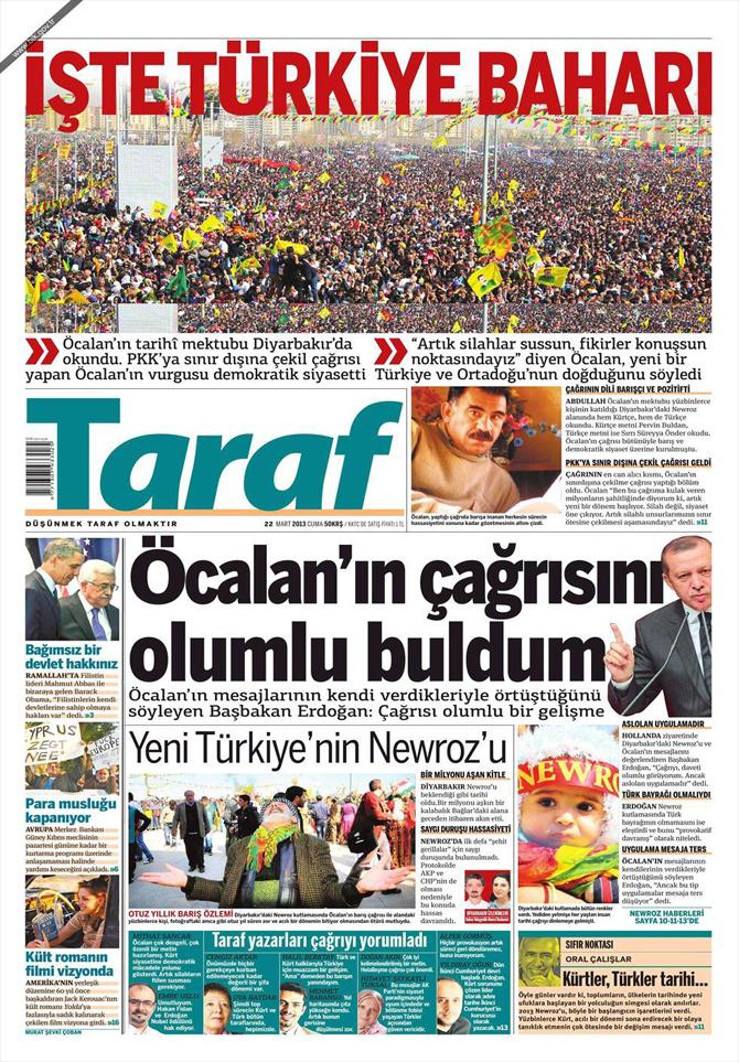 22 Mart 2013 - Günün Gazete Manşetleri 6