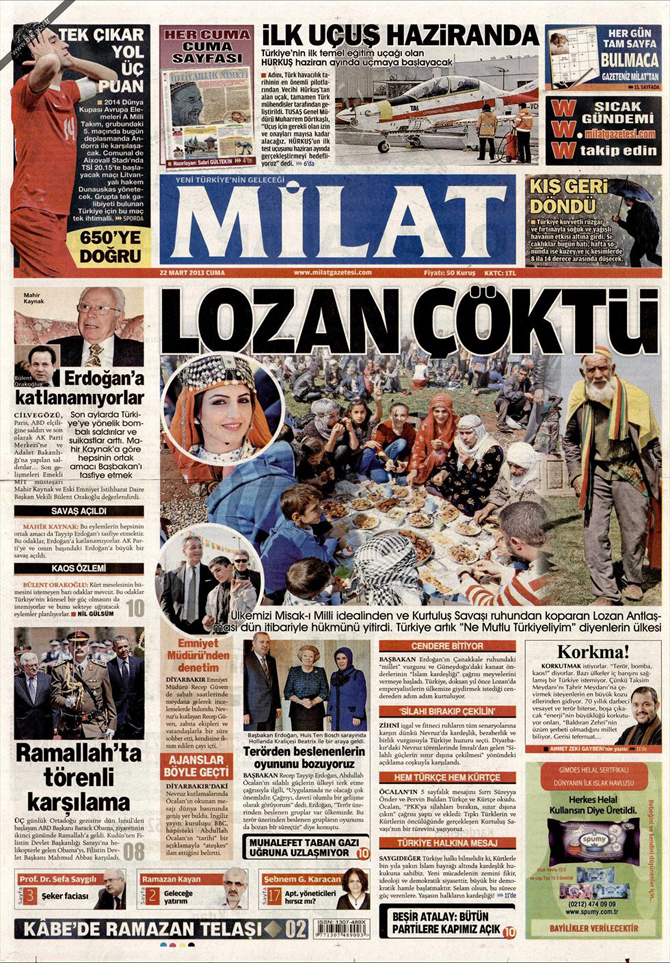 22 Mart 2013 - Günün Gazete Manşetleri 7