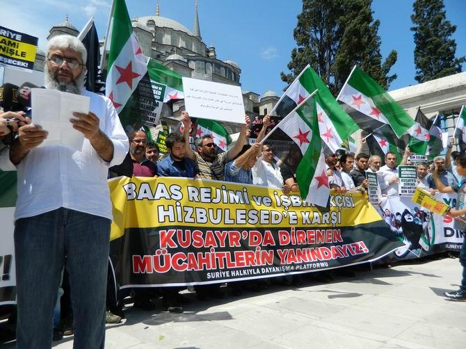 "Fatih Camii'nde Protesto:  ""Katil İran, Katil Hizbullah"" 11"