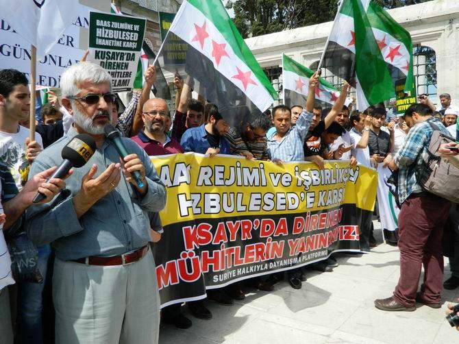 "Fatih Camii'nde Protesto:  ""Katil İran, Katil Hizbullah"" 16"