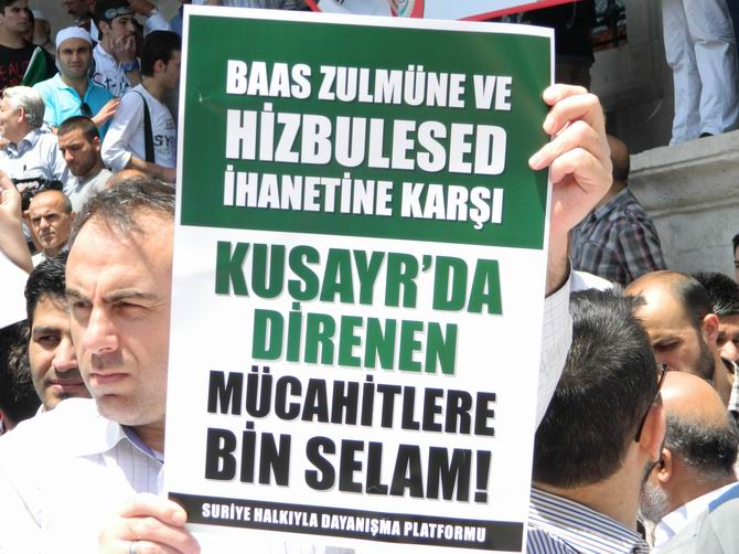 "Fatih Camii'nde Protesto:  ""Katil İran, Katil Hizbullah"" 2"