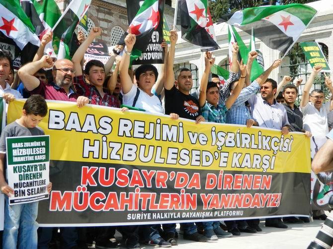 "Fatih Camii'nde Protesto:  ""Katil İran, Katil Hizbullah"" 23"