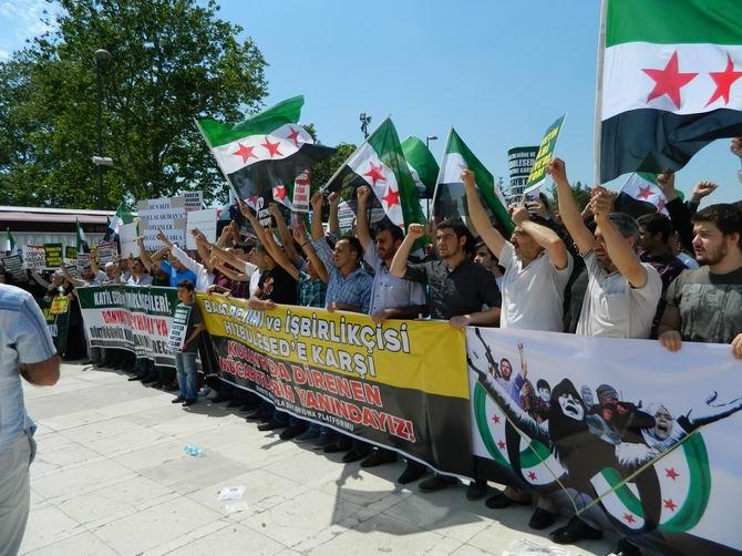 "Fatih Camii'nde Protesto:  ""Katil İran, Katil Hizbullah"" 25"