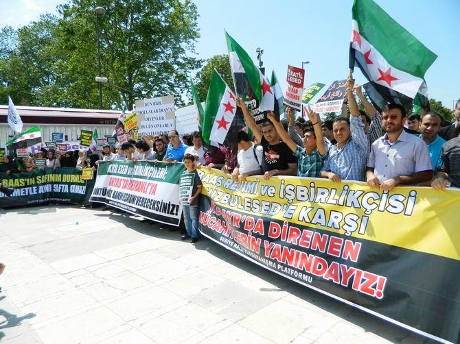 "Fatih Camii'nde Protesto:  ""Katil İran, Katil Hizbullah"" 27"
