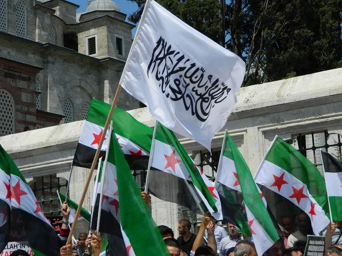 "Fatih Camii'nde Protesto:  ""Katil İran, Katil Hizbullah"" 6"