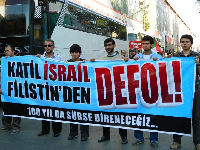 On Binler Fatih'te Kudüs ve Mavi Marmara İçin Yürüyor 14