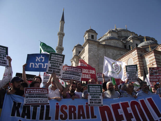 On Binler Fatih'te Kudüs ve Mavi Marmara İçin Yürüyor 34