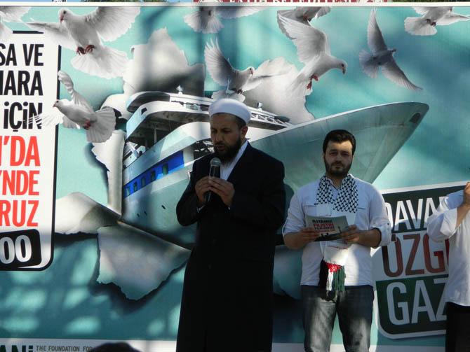 On Binler Fatih'te Kudüs ve Mavi Marmara İçin Yürüyor 6
