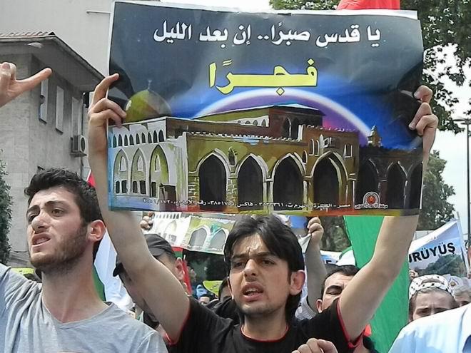 """Fatih'te """"Kudüs'e Küresel Yürüyüş"""" Eylemi 10"""
