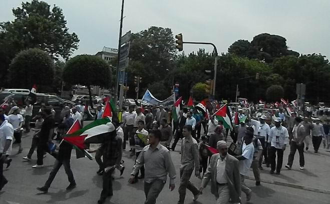 """Fatih'te """"Kudüs'e Küresel Yürüyüş"""" Eylemi 11"""