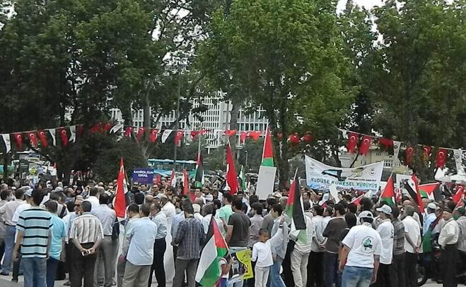 """Fatih'te """"Kudüs'e Küresel Yürüyüş"""" Eylemi 12"""