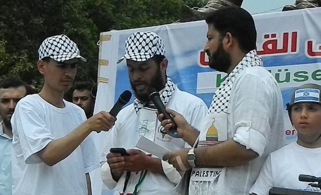 """Fatih'te """"Kudüs'e Küresel Yürüyüş"""" Eylemi 14"""
