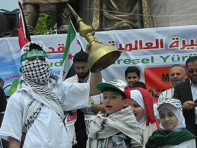 """Fatih'te """"Kudüs'e Küresel Yürüyüş"""" Eylemi 15"""