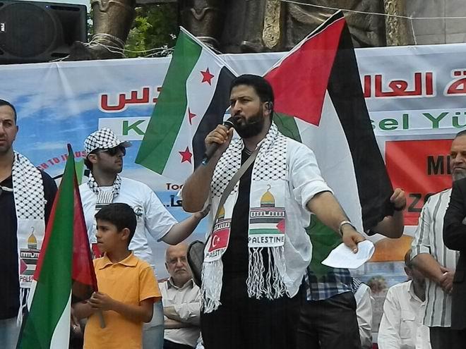 """Fatih'te """"Kudüs'e Küresel Yürüyüş"""" Eylemi 16"""
