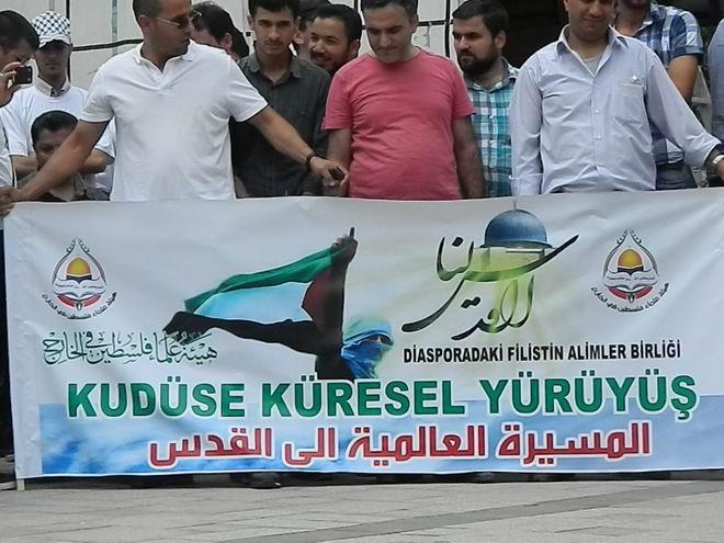 """Fatih'te """"Kudüs'e Küresel Yürüyüş"""" Eylemi 17"""