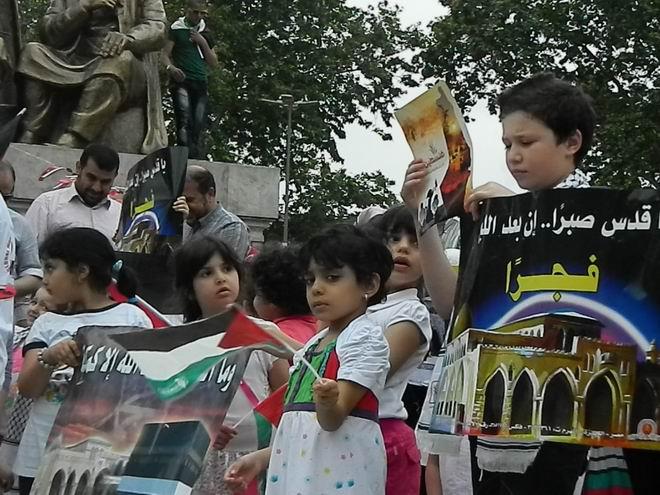 """Fatih'te """"Kudüs'e Küresel Yürüyüş"""" Eylemi 21"""