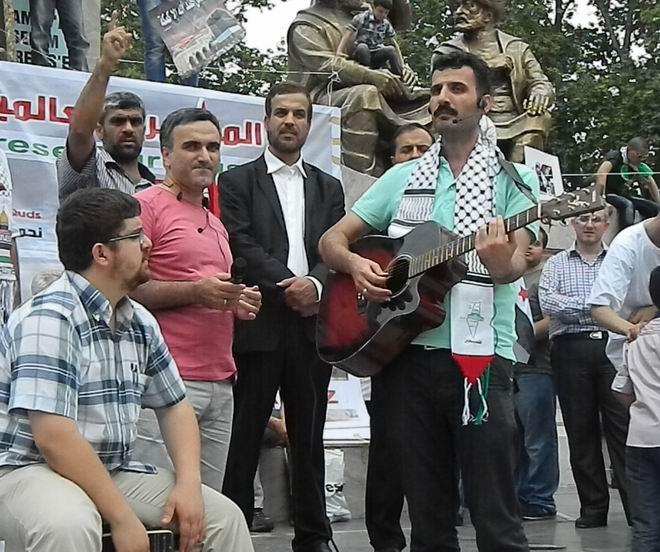 """Fatih'te """"Kudüs'e Küresel Yürüyüş"""" Eylemi 26"""