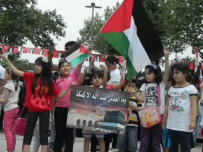 """Fatih'te """"Kudüs'e Küresel Yürüyüş"""" Eylemi 27"""