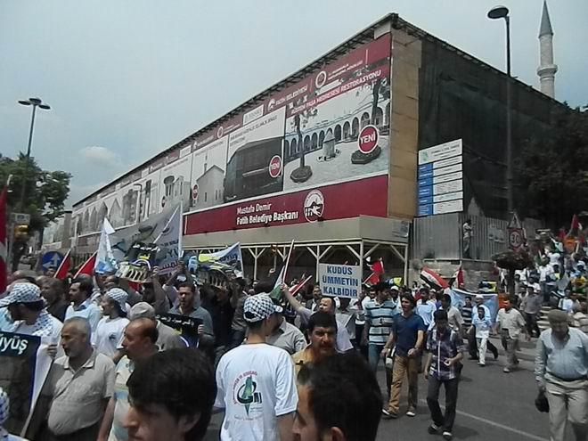 """Fatih'te """"Kudüs'e Küresel Yürüyüş"""" Eylemi 3"""