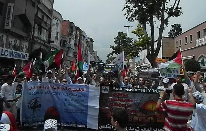 """Fatih'te """"Kudüs'e Küresel Yürüyüş"""" Eylemi 4"""