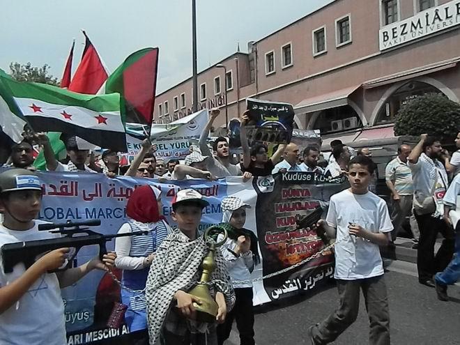 """Fatih'te """"Kudüs'e Küresel Yürüyüş"""" Eylemi 5"""