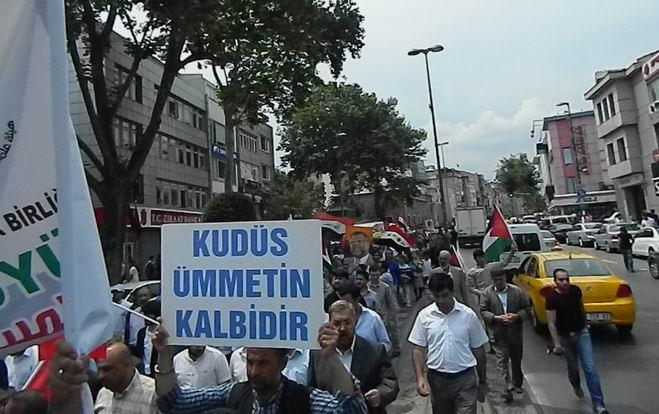 """Fatih'te """"Kudüs'e Küresel Yürüyüş"""" Eylemi 7"""