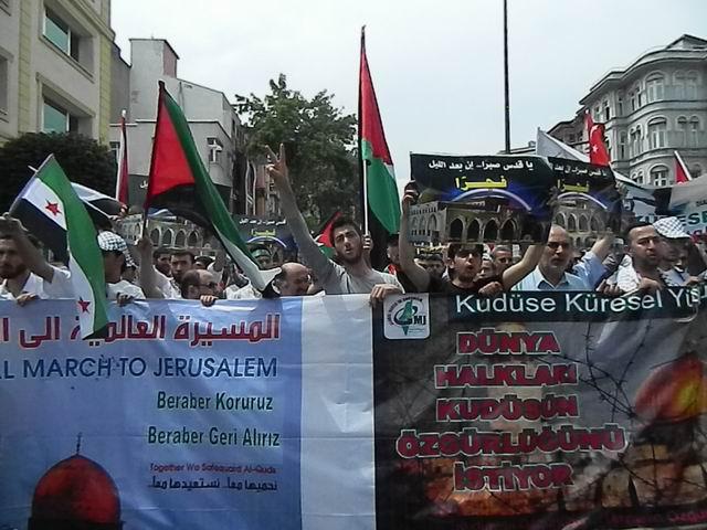 """Fatih'te """"Kudüs'e Küresel Yürüyüş"""" Eylemi 8"""