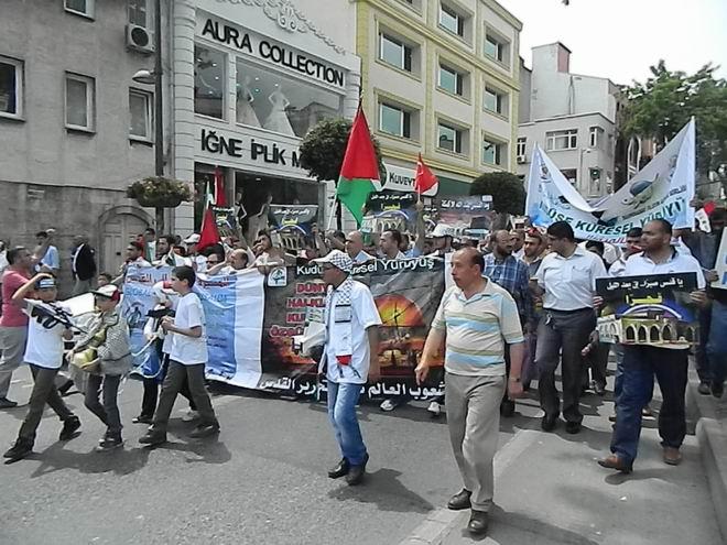 """Fatih'te """"Kudüs'e Küresel Yürüyüş"""" Eylemi 9"""
