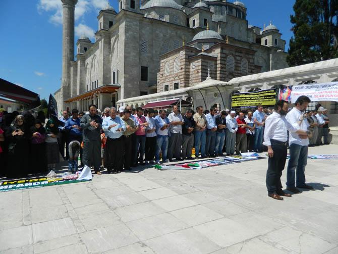Suriye Şehidi Bahtiyar İçin Fatih'te Cenaze Namazı 10