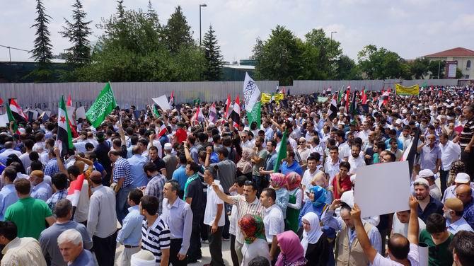 İstanbuldan Mısır İslami Hareketine Destek Yürüyüşü 1