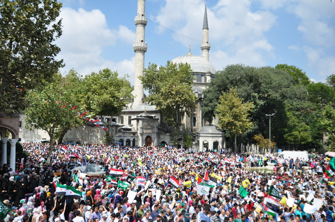 Mısır Katliamı Eyüpte Protesto Edildi 1