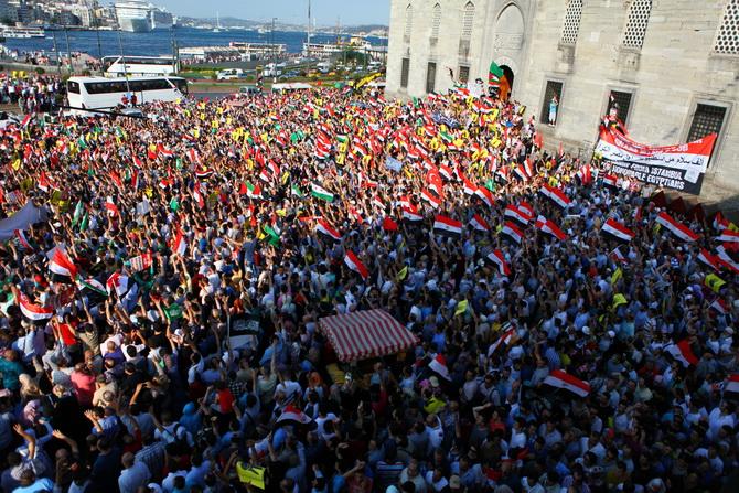 Eminönünde Mısır Cuntasına Lanet Eylemi 1