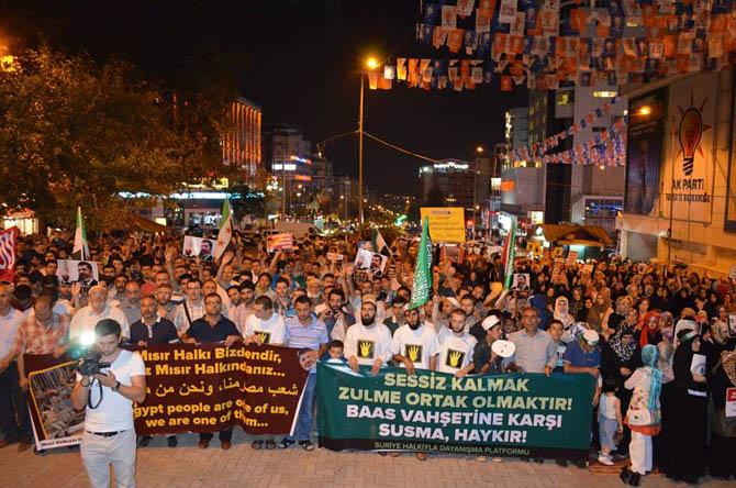 Bursada Mısır Protestosu 1