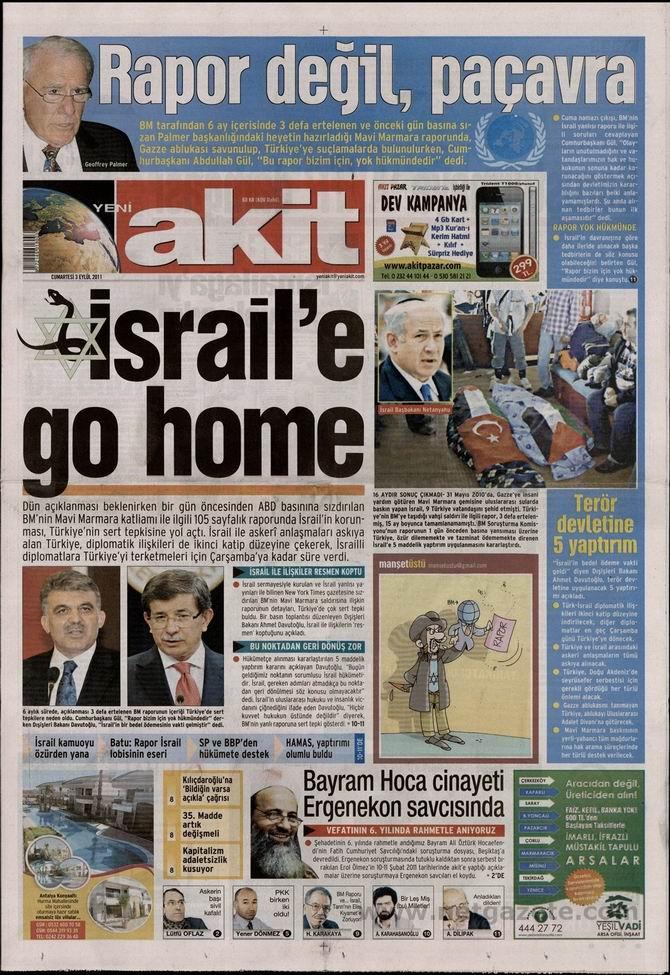 3 Eylül 2011 Gazete Manşetleri galerisi resim 1