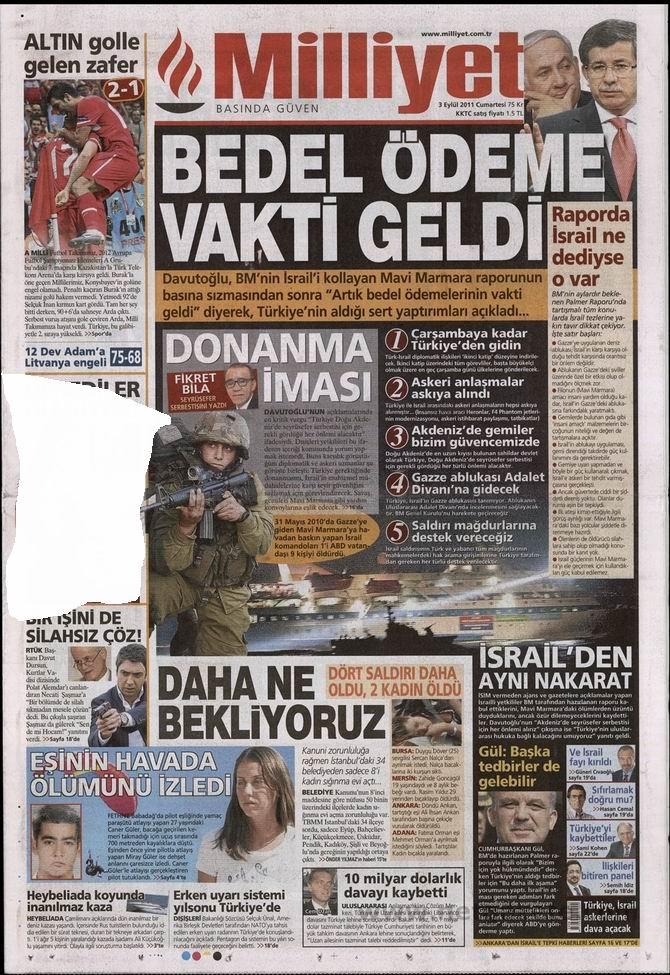 3 Eylül 2011 Gazete Manşetleri 10