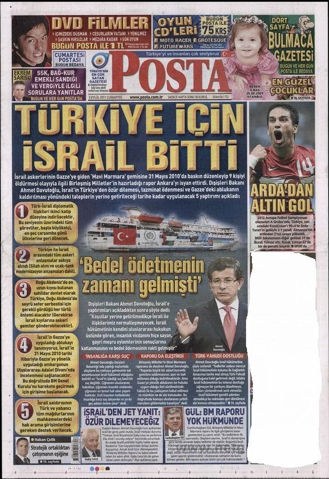 3 Eylül 2011 Gazete Manşetleri 11